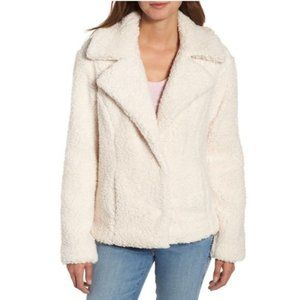 Caslon Fleece Faux Shearling Jacket In Natural NWT